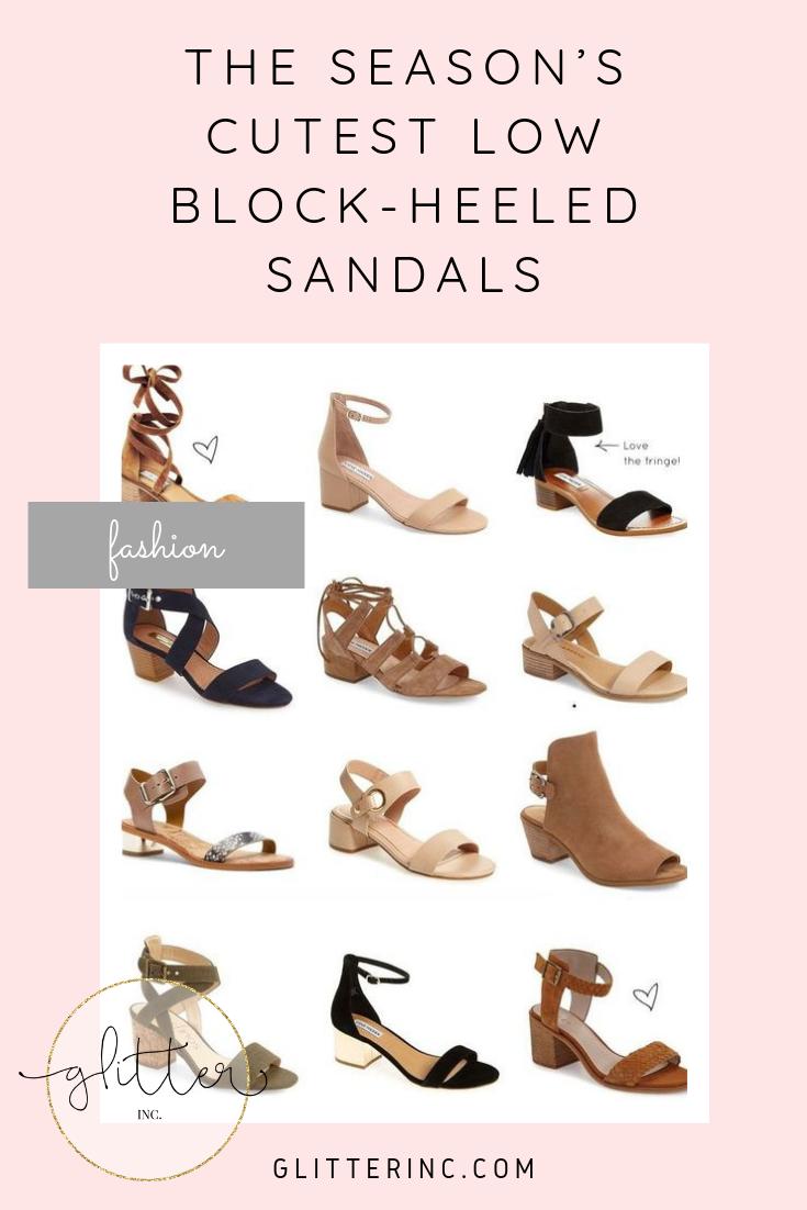 Low block heel sandal, Block heels