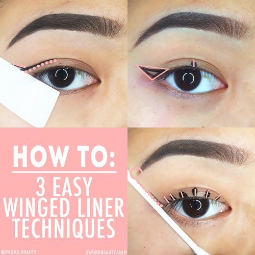 HOW TO: 3 Easy Winged Liner Techniques | makeup