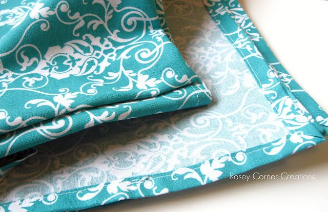 How to make a nice corner, tablecloth or blanket