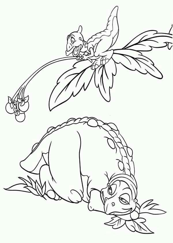 Land Before Time Family Petrie Give Cera Father Fruits Coloring Page Download Print Online In 2020 Family Coloring Pages Fruit Coloring Pages Online Coloring Pages