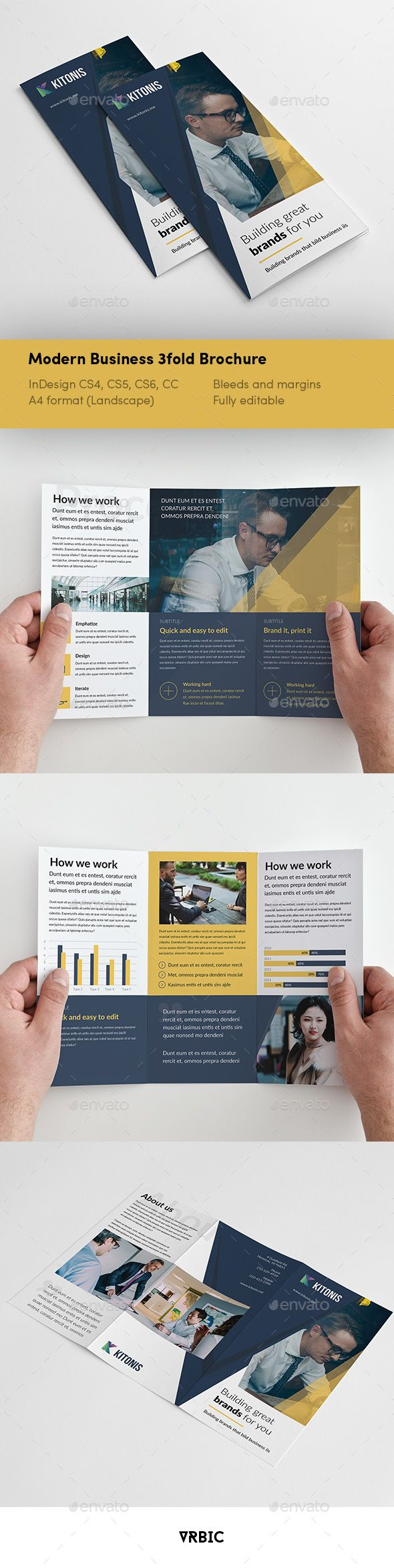 travel brochure template 3 fold