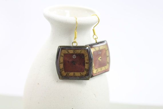 Steampunk Earrings  Vintage Clockwork Design  by eteniren on Etsy, $12.00