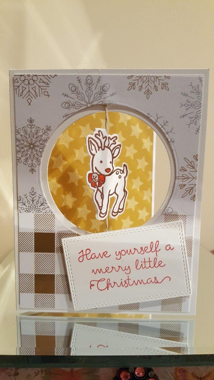 Stampin up seasonal chums seasonal tags framelets year of cheer spinner card kristyandbryce Choice Image