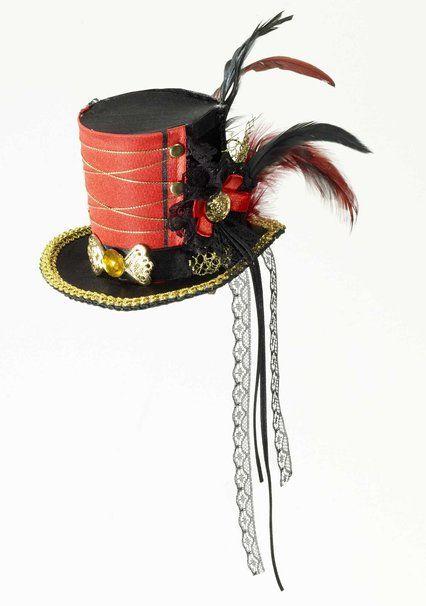 184b136913a25 Forum Ring Master Circus Victorian Costume Goth Black Mini Top Hat Adult