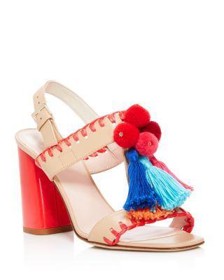 f19450232aeb KATE SPADE Central Tasseled Block Heel Sandals.  katespade  shoes  sandals. kate  spade new york ...