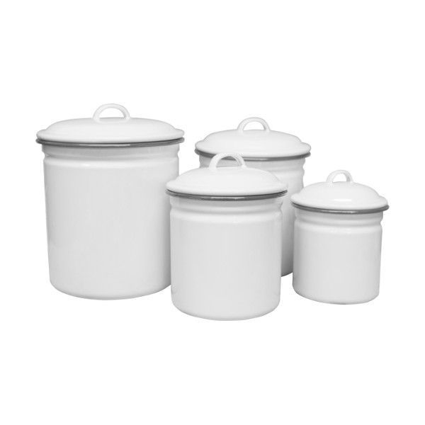 enamel kitchen canisters enamel canister set 4 piece vintage collection canister sets vintage enamelware kitchen 8034
