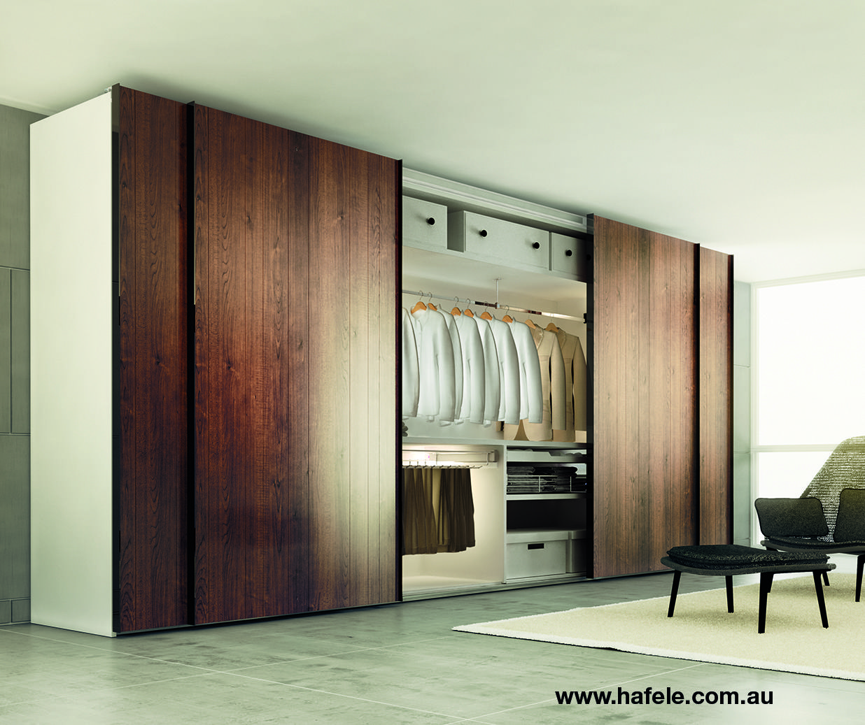 Elegant A Wardrobe That Contains More Than Just Clothes. With Hafele Good Looking