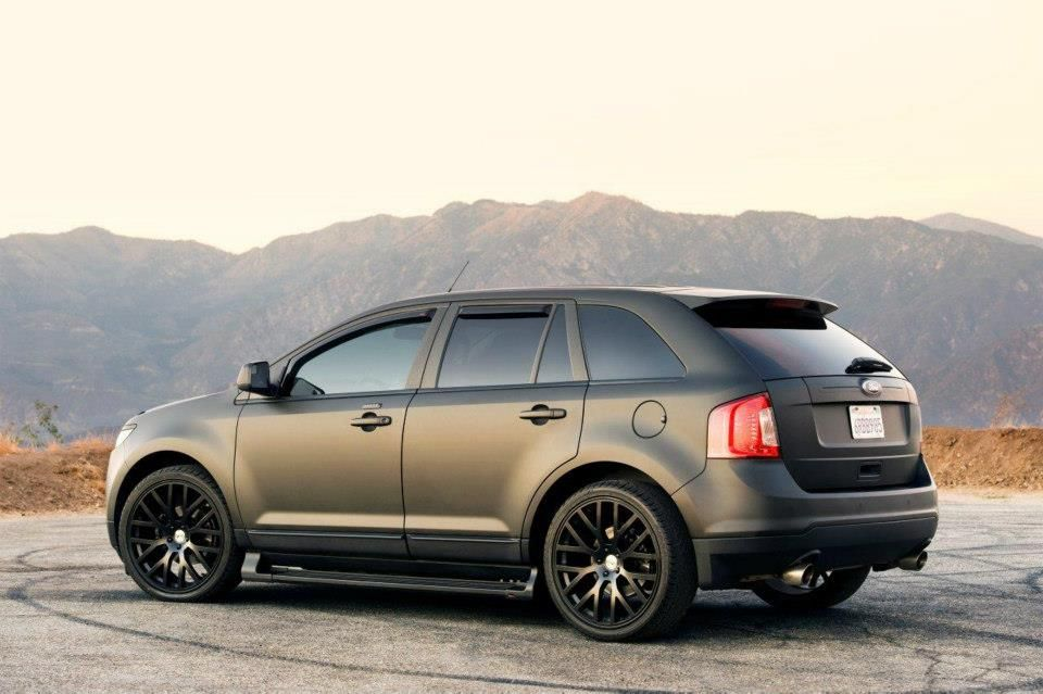 Matte Black Ford Edge Love It Ford Edge Ford Edge Sport Ford