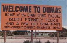 Dumas Texas Welcome Sign Hafta Pin A Picture Of Our Own Milford