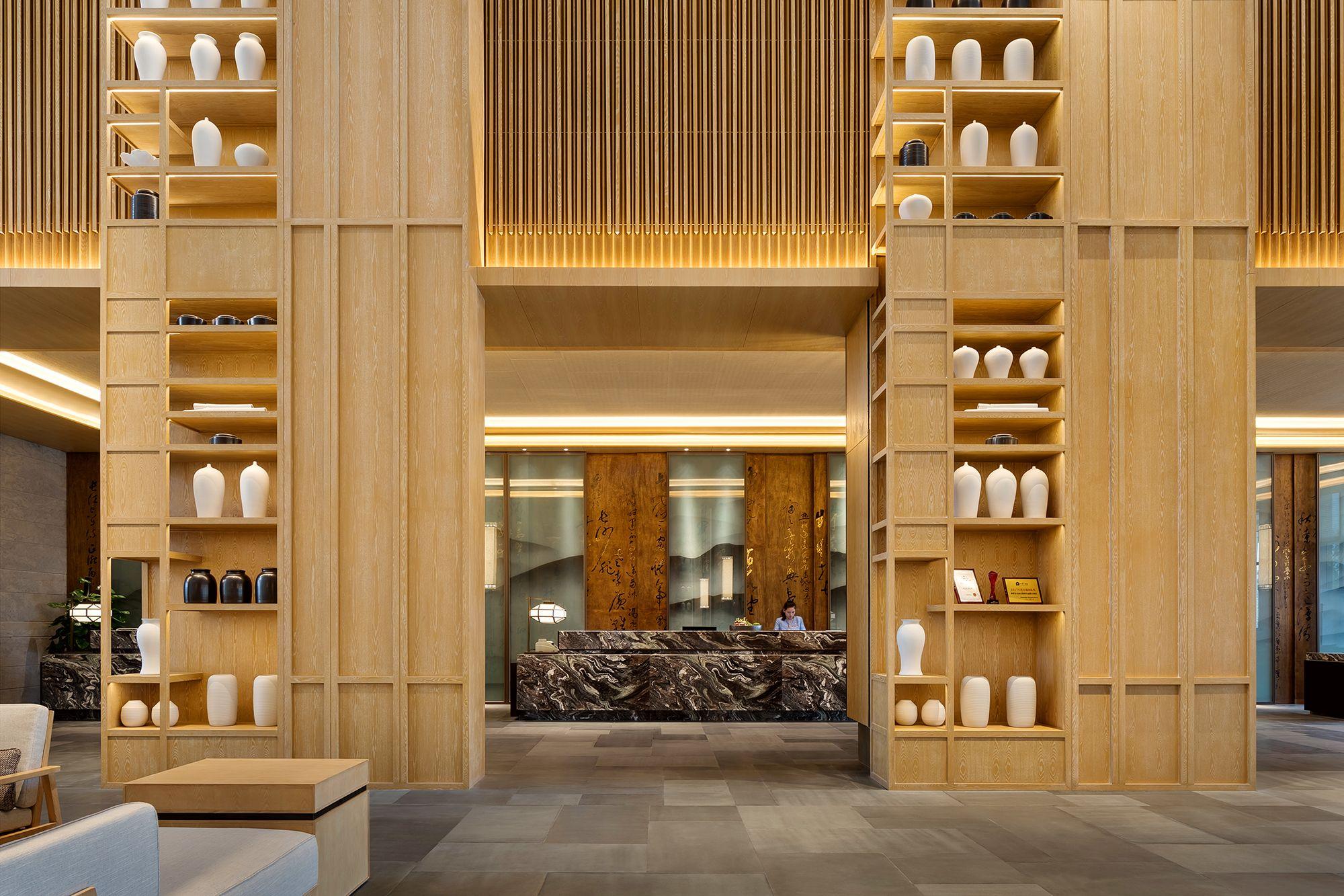 南昌保利皇冠假日酒店 营造自然之境 Yang杨邦胜 品牌酒店 马蹄室内设计论坛 序赞网 手机版 Powered By Discuz Lobby Reception Design Lobby Design Hotels Design