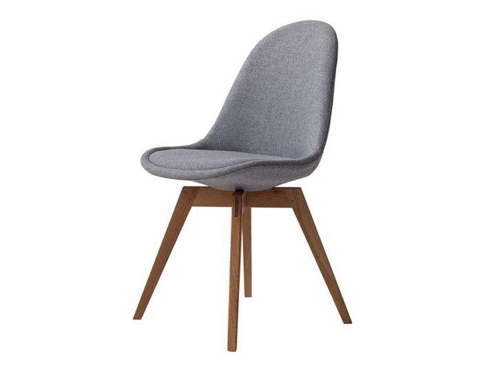 Basil Stuhl Esszimmerstuhl Wartezimmerstuhl Stoff Grau Eiche Stuhle Polsterstuhl Esszimmer Esstisch Stuhle