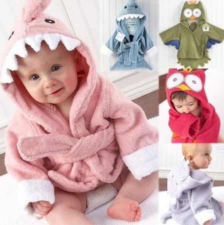 cf467a58 Retail boy girl Animal Baby bathrobe/baby hooded bath towel/kids bath terry  children infant bathing/baby robe GLADBABY $6.20