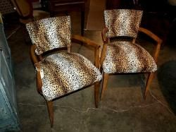Sexy leopard print deco chairs. So cool!