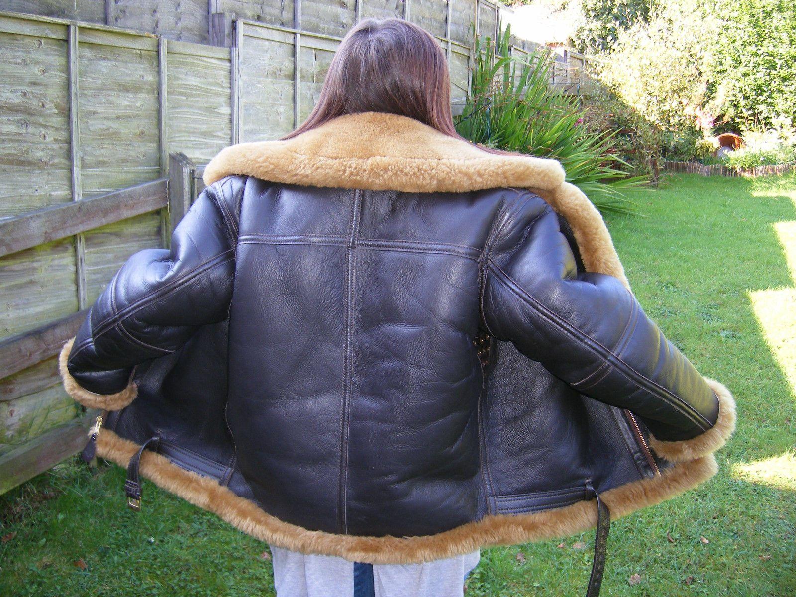 Genuine irvin sheepskin flying jacket seldom worn size 40 mouton genuine irvin sheepskin flying jacket seldom worn size 40 mouton lining ebay gumiabroncs Gallery
