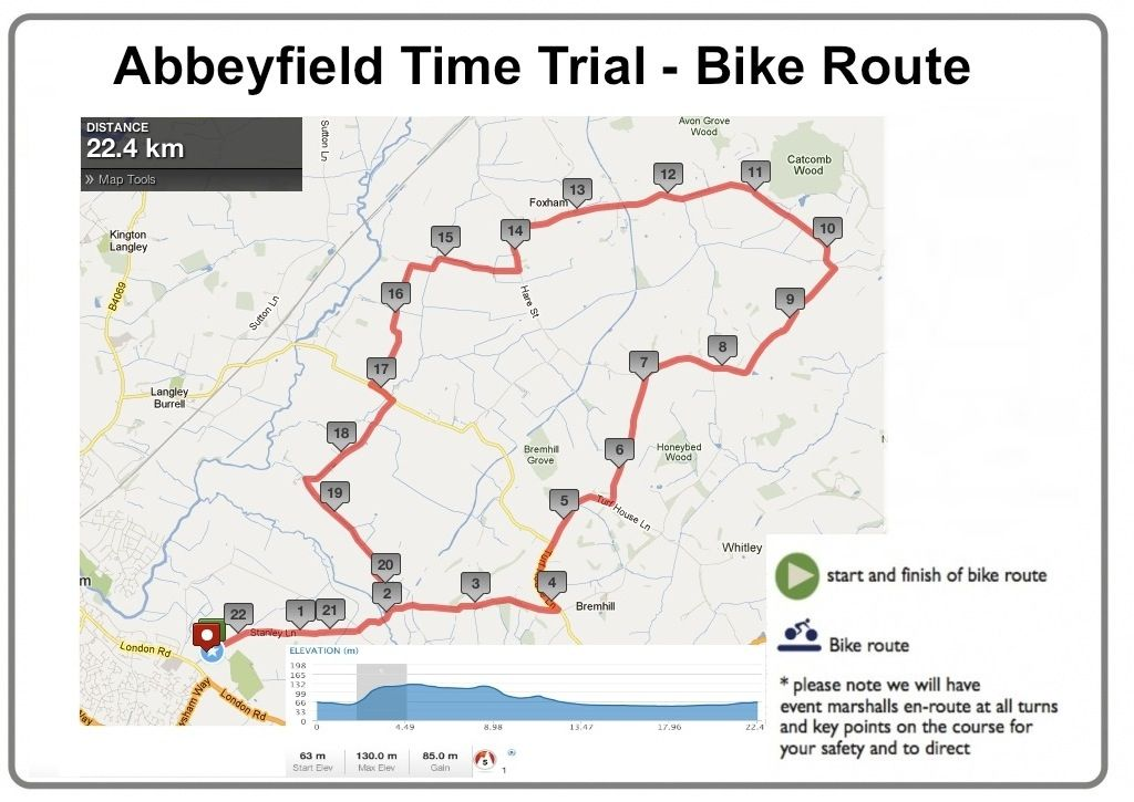 Abbeyfield Time Trial Route - April 14th  | Events Logic UK | Be Part Of It!