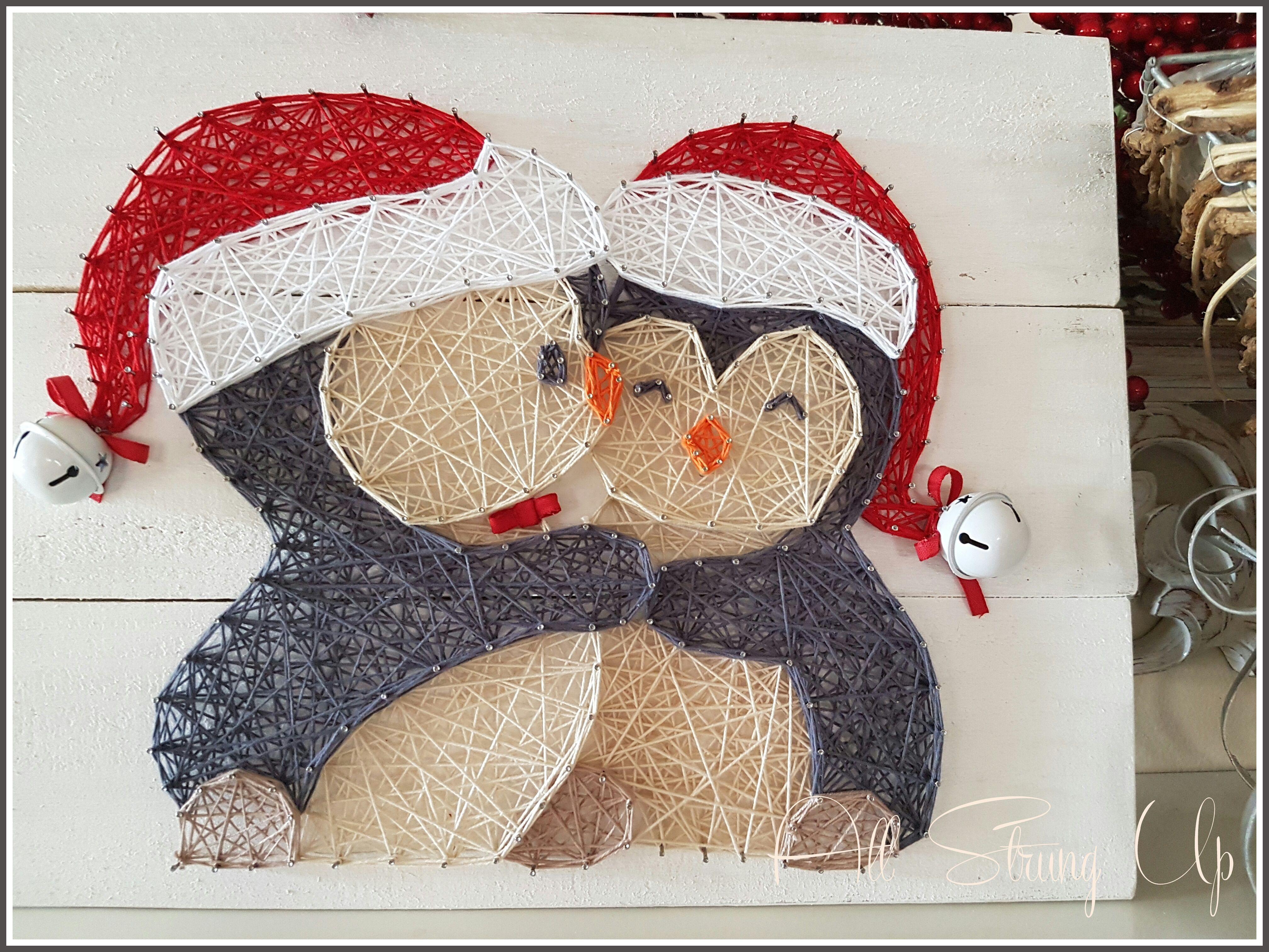 cuddle penguins - red string