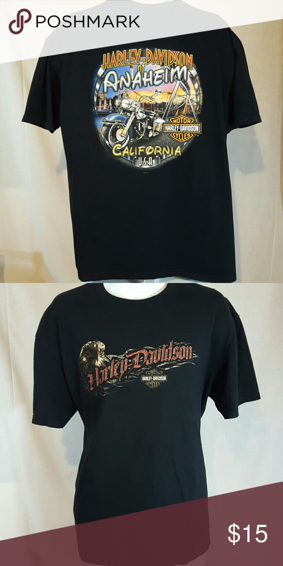 "Harley Davidson motorcycles art black XL tshirt Good condition. Measures 24"" across chest and 29"" Long from top mid shoulder to bottom hem Shirts Tees - Short Sleeve"
