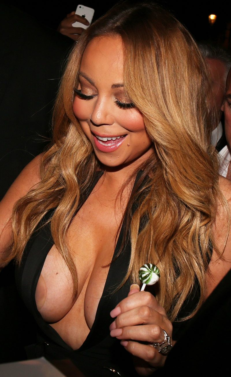 Carey nipples mariah