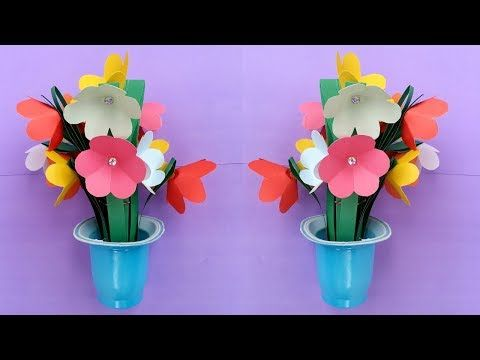 How To Make Tissue Paper Flower  Super Easy Method/ Christmas Decoration    YouTube | Scrapbooking | Pinterest | Flower Bouquets, Diy Wall Decorations  And ...