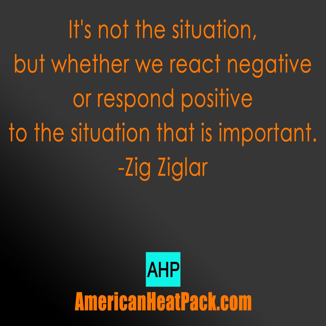 Negative or positive... It's up to you. #pain #arthritis #fibromyalgia #americanheatpack
