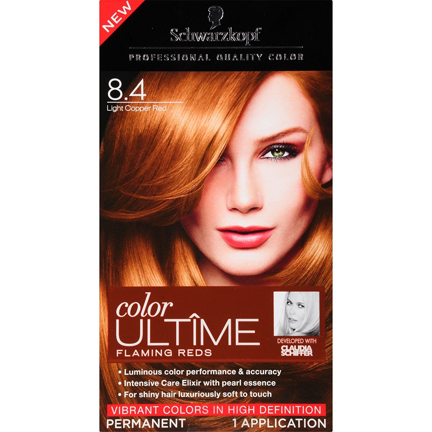 Schwarzkopf Color Ultime Flaming Reds Hair Coloring Kit 84 Light