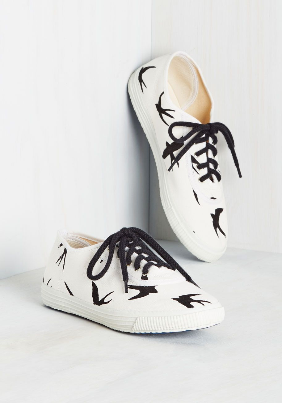 b4a61063bfad Spring Shoes - Sporty Favors the Bold Sneaker in Swallows Lace Up Shoes
