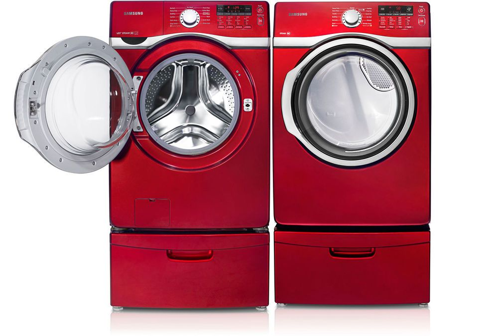Red Samsung Washer And Dryer Google Search Steam Washer