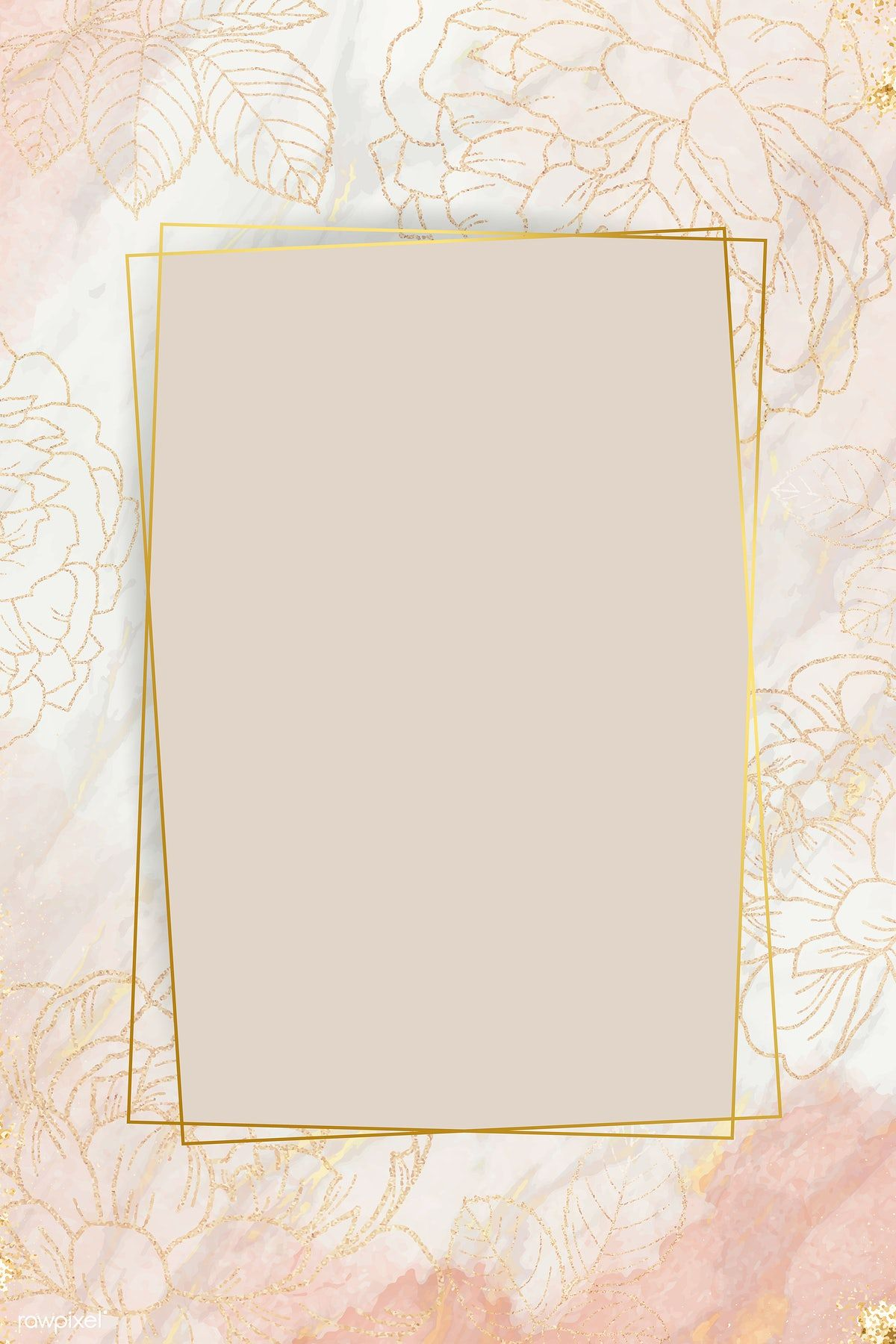 Download Premium Vector Of Pink Golden Floral Frame Vector 1211898 Flower Background Wallpaper Graphic Wallpaper Framed Wallpaper