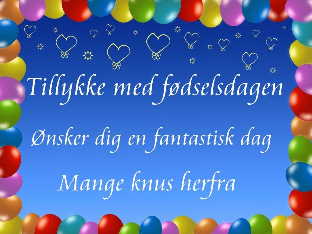 tillykke på fødselsdagen