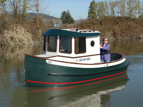 The lady j tug was built from berkeley engineering co for Best small cabin boats