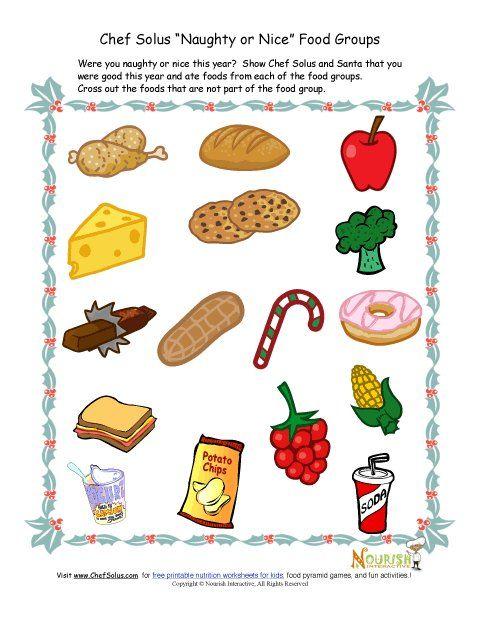 Healthy Food And Junk Food Worksheets
