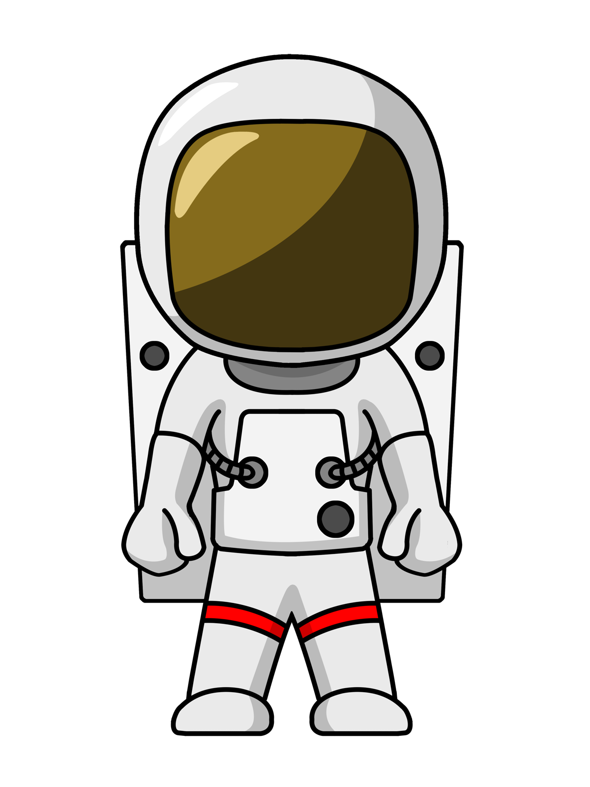 Cartoon astronaut with enlarged head webquest rocket man space