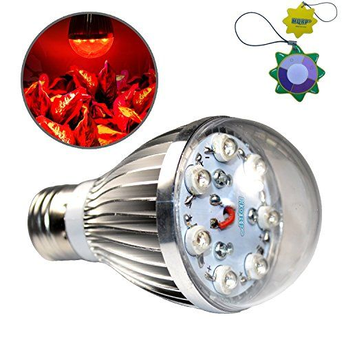Hqrp 7W Hydroponic Spot Led Red E26 Bulb Grow Light For 400 x 300