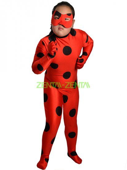 miraculous ladybug printed spandex lycra zentai costume. Black Bedroom Furniture Sets. Home Design Ideas