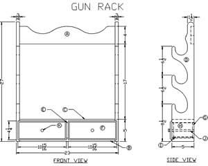 photograph regarding Printable Gun Rack Template known as Pin upon Woodworking