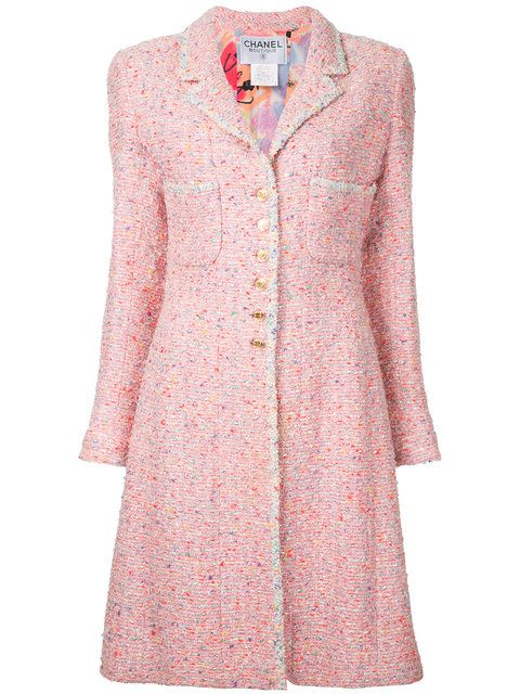 Chanel - Vintage long sleeve tweed coat  64bd90392ff5f