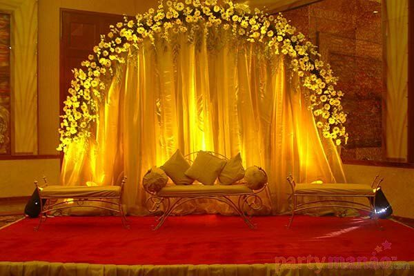 Indoor Wedding Decor 5 Package Includes Stage And Entrace Decor