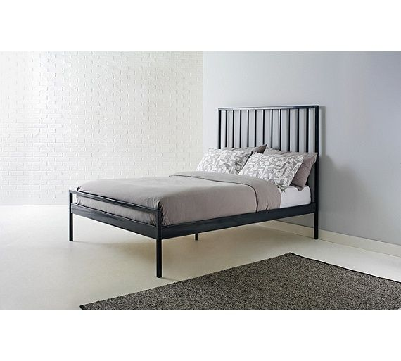 Buy Habitat Lucia Double Bed Frame - Grey at Argos.co.uk - Your ...