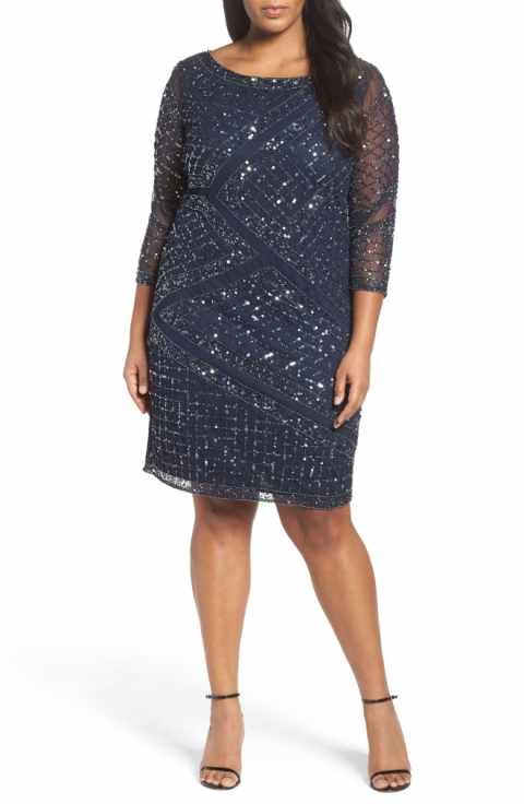 20424d19eca5b Pisarro Nights Embellished Cocktail Dress (Plus Size)