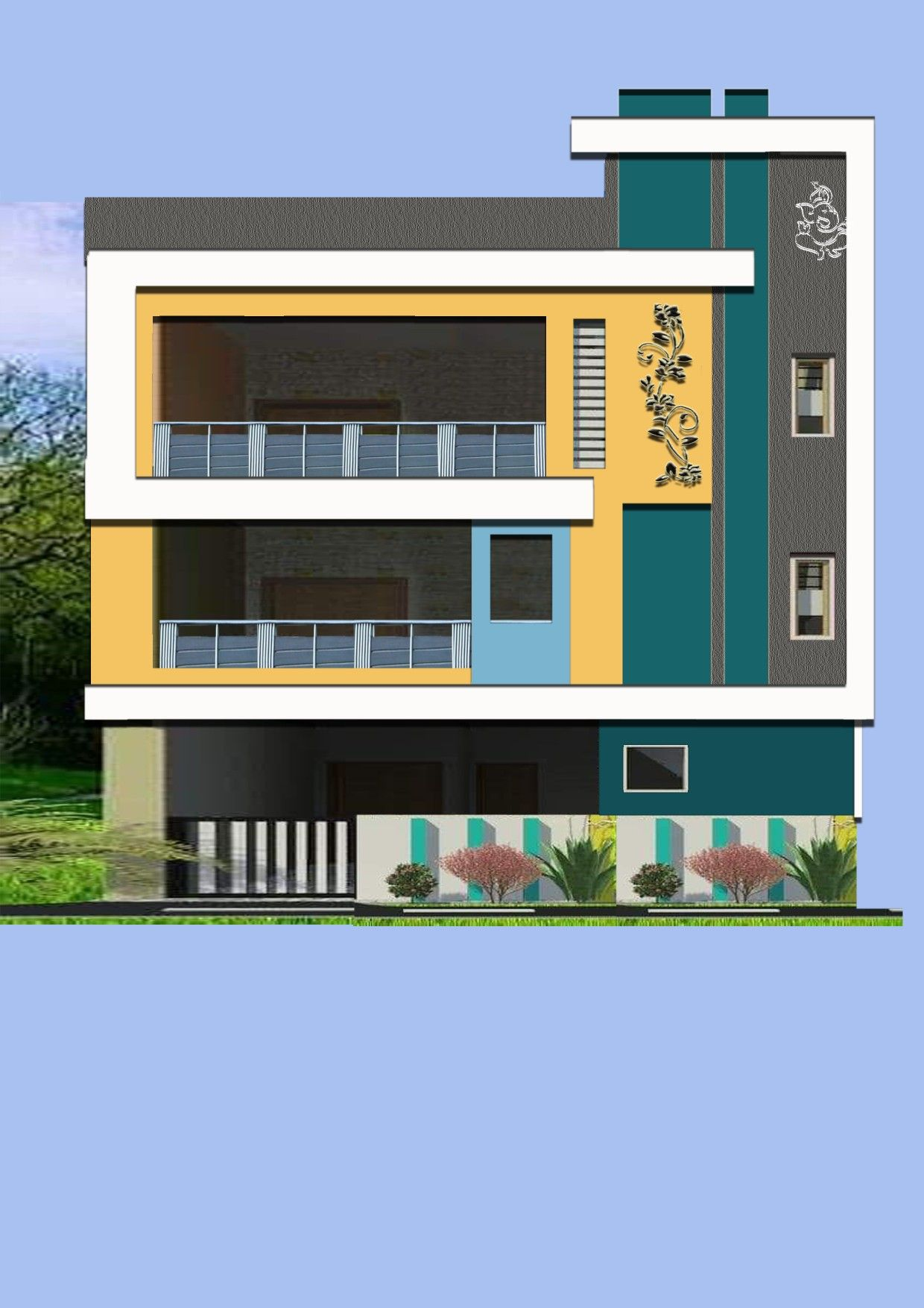 Pin By Devullapally Sreekanth On Casas Pequenas House Balcony Design Small House Elevation Design Modern Bungalow Exterior