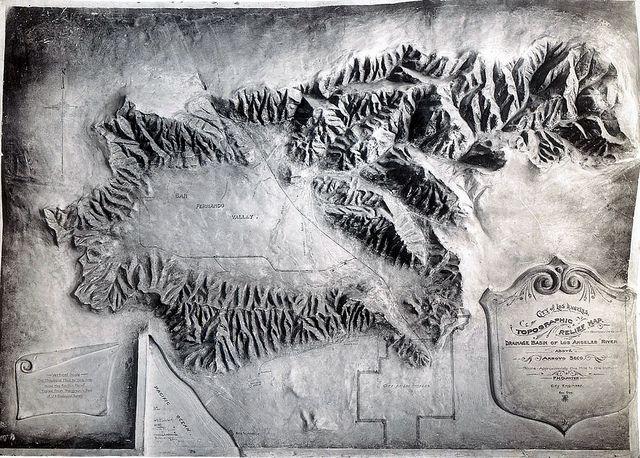 Los Angeles Drainage Basin Topographic Map Topographical - Los angeles topographic map