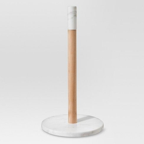 Add A Touch Of Elegance To Your Kitchen With The Paper Towel Holder In Marble Beechwood From Thresh Paper Towel Holder Towel Holder Target Paper Towel Holder
