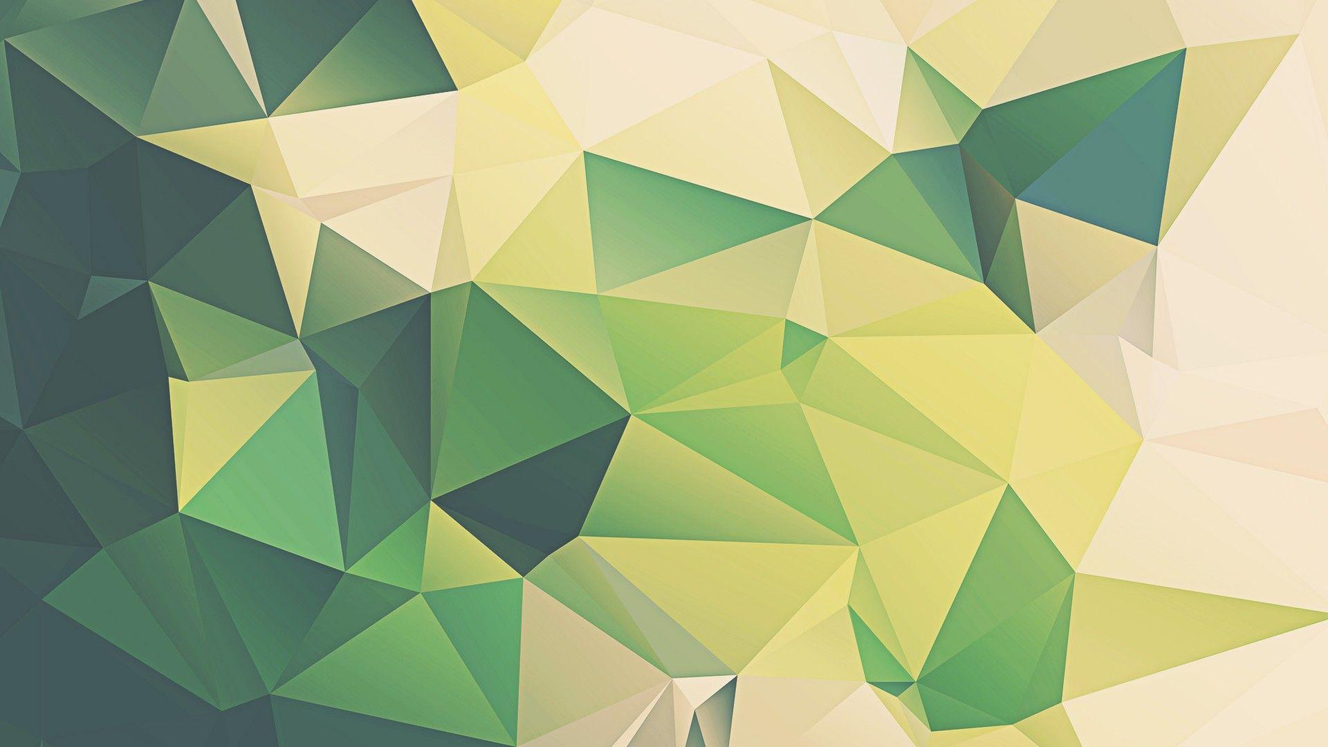 Green Colour Desktop Backgrounds Hd Abstract Geometric Art