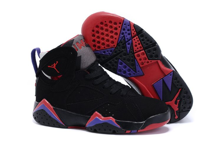 Original jordan retro 7 vii shoe nike outlet store black red blue shoe online