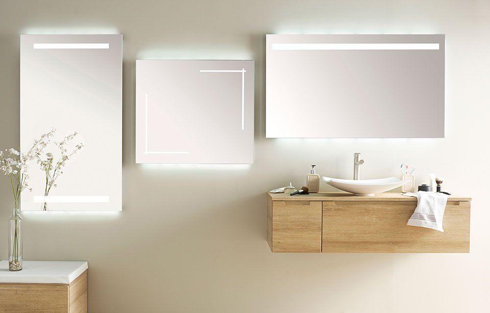 Éclairage salle de bains miroir lumineux leroy merlin ...