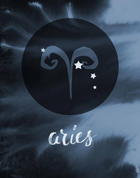 Aries Zodiac Gift Astrology Gift Boho Zodiac Wall Art Aries Brush Lettered Elements Digitally Collaged With A Water Aries Wallpaper Aries Zodiac Aries Symbol