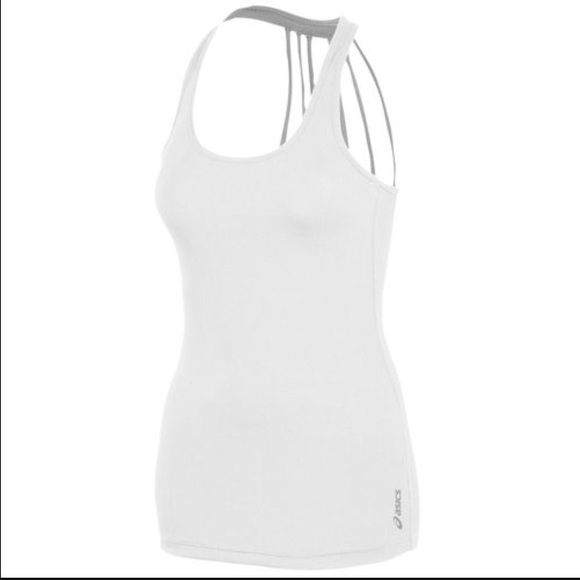 Asics Pure Rib Tank Asics white athletic tank. NWT. Size Small. Polyester/