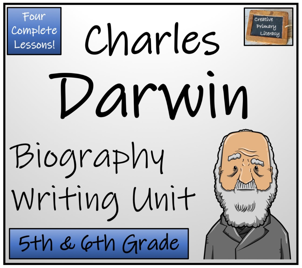 Charles Darwin 5th 6th Grade Biography Writing Activity Writing Activities Writing Units Charles Darwin [ 888 x 1000 Pixel ]