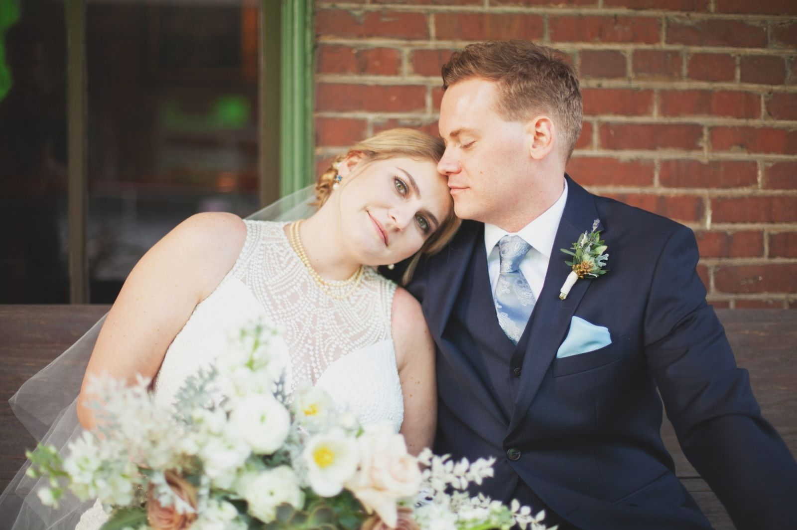 mcconnell house wedding in franklin, tnbride and groom