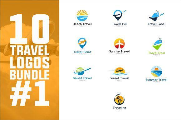 10 Travel Logo Bundle 1 By PC Design On Creativemarket